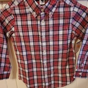 Boys gap long sleeve button up nwt size 5
